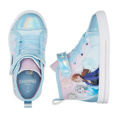 Toddler Sneakers, Girls Sneakers, Girls Shoes, High Top Sneakers, Frozen Birthday Outfit, Disney Frozen Birthday, Frozen Shoes, Frozen Clothes, Frozen Girls Room