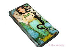 Sirena de Venus  impresión de Giclee montado sobre madera 5