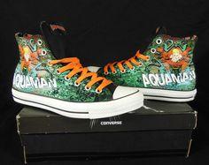 83ae413ff03b Converse Aquaman All Star Chuck Taylor DC Comics Kicks   Sneakers Cool  Converse