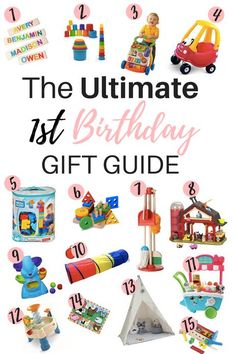 The Ultimate First Birthday Gift Guide, birthday gifts, gift ideas, one year old gift ideas, toys fo Baby's First Birthday Gifts, 1 Year Old Birthday Party, Birthday Gifts For Girls, 1st Boy Birthday, First Birthdays, Birthday Ideas, First Birthday Activities, 1st Birthday Party Games, Diy Birthday