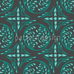 Pintoretto Mint by Martina Stadler available for download on patterndesigns.com Vector Pattern, Design Show, Surface Design, Medieval, Gothic, Mint, Inspiration, Patterns, Biblical Inspiration