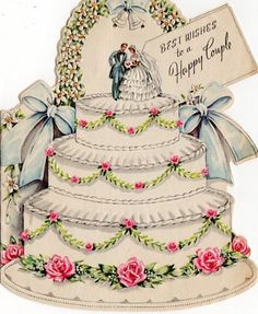 The card has been signed and is in great shape. NO envelope. Vintage Wedding Cards, Vintage Greeting Cards, Vintage Bridal, Card Wedding, Vintage Weddings, Wedding Photos, Wedding Dress, Wedding Cake Cutting, Happy Anniversary Cards