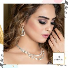 This neckpiece, ring and earrings have our heart on fire!  See our designs extravaganza at our store in Karol Bagh.  Book an appointment with us today.  Follow, Like @CLDiamonds @jassahotamakeovers @tanikachawla4294 . . . . . . #cldiamonds  #diamondsetting, #diamondsetter, #diamondset, #diamondsets, #diamondsetsonline, #diamondsetsonsale, #designerset, #designernecklace, #designersets,  #designerdiamondjewellery, #DiamondChoker,  #diamondchokers #diamondchokernecklace… Diamond Choker Necklace, Earrings, Polki Sets, Fire Heart, Diamond Settings, Necklace Designs, Chokers, Store, Instagram
