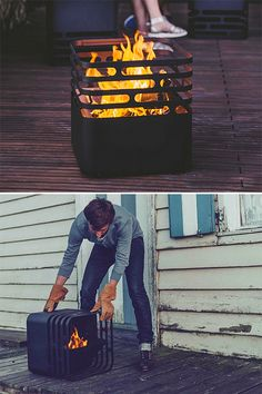 The German-made, stainless steel CUBEis not your average backyard fire-pit. When you want to extinguish the fire, you simply flip it over. The unique design of the firebowl keeps all the wood, ash and smoldering coals inside while blocking out air it needs to burn. When there's no fire burning in the CUBE, it can be used as a stool or side table.