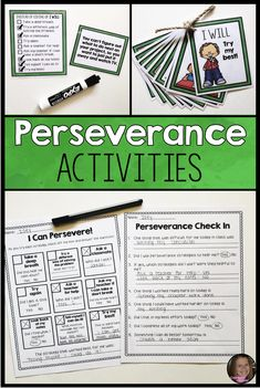 Perseverance Activities For Growth Mindset And Character Education Character Education Lessons, Values Education, Character Activities, Special Education, Coping Skills Activities, Growth Mindset Activities, Perseverance For Kids, Habits Of Mind, Social Emotional Learning