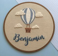 Air Balloon for Benjamin & # s room Air Balloon for Benjamin & # s bedroom … – Bordados da Dudy – Couture - Stickerei Ideen Hand Embroidery Videos, Embroidery Flowers Pattern, Simple Embroidery, Hand Embroidery Stitches, Modern Embroidery, Embroidery Hoop Art, Hand Embroidery Designs, Cross Stitch Embroidery, Ribbon Embroidery