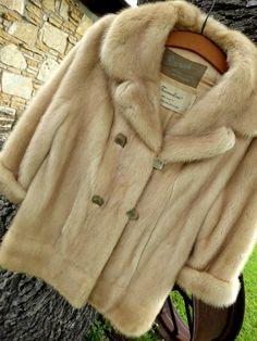 Vintage EMBA Natural Pale Beige Mink Coat Tourmaline Burchay's, Natural Pale Beige Mink Coat by MyFrenchTexas on Etsy