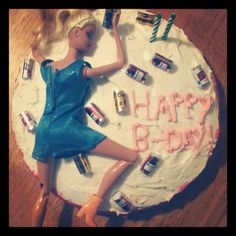 For Niccole's Bday Birthday Sweets, 21st Birthday, Birthday Cakes, Birthday Ideas, Birthday Parties, Drunk Barbie Cake, Barbie Funny, Bad Cakes, Crazy Things