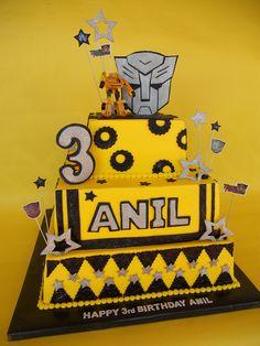 Transformers BumbleBee Birthday Cake by CakesUniqueByAmy.com, via Flickr