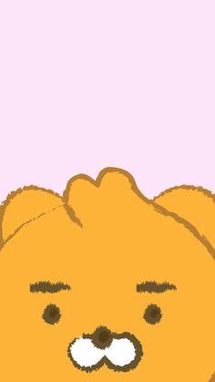Cute Anime Wallpaper, Photo Wallpaper, Wallpaper Backgrounds, Kakao Ryan, Kakao Friends, Friends Wallpaper, Cute Doodles, Line Friends, Cover Photos
