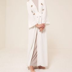 Eid '17 - Coming soon! Ivory Beaded Wrap Kimono Black Beaded Wrap Kimono www.inayah.co