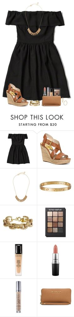 """cute formal outfit "" by lilypackard ❤ liked on Polyvore featuring moda, Abercrombie & Fitch, Michael Kors, Lydell NYC, Cartier, J.Crew, Sonia Kashuk, Lancôme, MAC Cosmetics e Urban Decay"