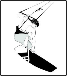Kitesurfer ~ from photo