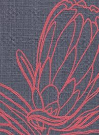line protea masala on indigo Protea Art, Protea Flower, Silk Screen Printing, Printing On Fabric, South African Flowers, Lino Art, Australian Native Flowers, Painted Leaves, Doodle Drawings