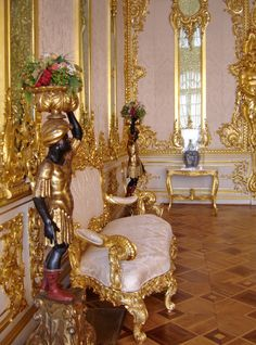 Amber Room, Catherine's Palace, Saint Petersburg, Russia - Travel Photos by Galen R Frysinger, Sheboygan, Wisconsin