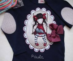Camiseta Gorjuss Paula 2 Alexander Mcqueen Scarf, Kids Outfits, Patches, Creations, Quilts, Sewing, Crafts, Diy, Clothes