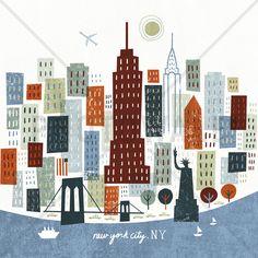 Colorful New York - Fotobehang & Behang - Photowall