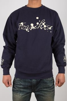 Navy Ink Spot Crew Neck Sweatshirt