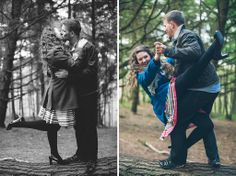 Engagement photos from the Lickey Hills by Mustard Yellow Photography