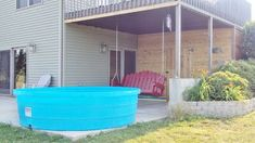 Stock tank pool - 9ft by nearly 3ft - possible canine therapy pool!  Apple Blossoms: Swimming, Sweet Treats, Sunflowers & Summer