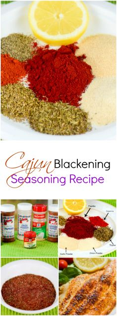 This yummy, spicy Cajun Blackening Seasoning Recipe is a healthy, no ...