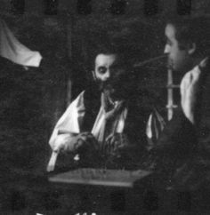 Renu Setna as the Chaplain and Joseph Long as the Sergeant in `Mother Courage `- Internationalist Theatre