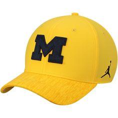 9a9b356aff7 Michigan Wolverines Jordan Brand Sideline Coaches Performance Adjustable Hat  - Maize  MichiganWolverines