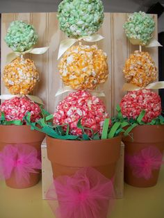 Lark's Country Heart: Jello Topiary Popcorn Trees (you don't have to form a tree.....enjoy separately)