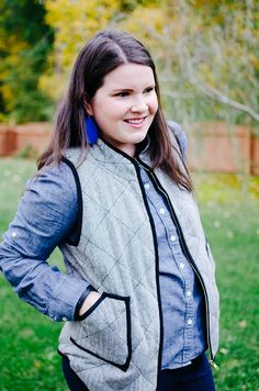 Stitch Fix Review | 41Hawthorn Shara Herringbone Vest with Black Piping