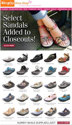 22cf5f476f Alegria Shoes 2018 Closeout Sale is on Now