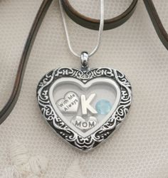 Mom Memorial Heart Locket, Mom Memorial Locket, Letter Birthstone, Personalized Mom Necklace, With Me Always Necklace, Mom Memorial Gifts