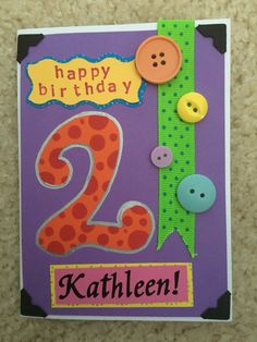 Birthday Card for 2 year old