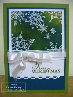 stampin up christmas cards | Christmas card using Serene Snowflakes....