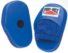 Pro-Box Blue Collection Hook and Jab Pads Tough suede/vinyl pads with finger protection and velcro wrist strap. http://www.MightGet.com/january-2017-11/pro-box-blue-collection-hook-and-jab-pads.asp