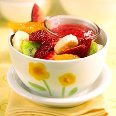 Fruit with Berry Sauce