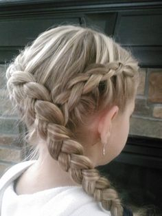 Hair Styles Ideas : Illustration Description Little Girl's Hairstyles: Hunger Games KATNISS Hairstyle: How to do a Y Dutch Braid -Read More – Cute Girls Hairstyles, Hairstyles Haircuts, Pretty Hairstyles, Braided Hairstyles, Guy Haircuts, Short Haircuts, Medium Haircuts, Girls Braids, Little Girl Braids