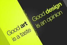 Good art & Good design