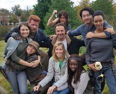 The Walking Dead Cast Glenn The Walking Dead, Walking Dead Tv Series, Walking Dead Memes, Walking Dead Season, Fear The Walking Dead, Norman Reedus, Steven Yeun, Melissa Mcbride, Judith Grimes