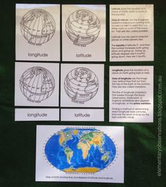 Continents & Mapping: Longitude & Latitude cards from Montessori for Everyone