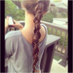 spiral braid ponytail, cute!