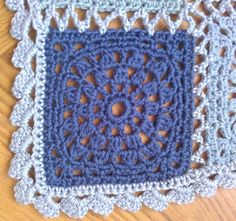 "Garn Studios square pattern DROPS 138-32 ""Romantic Memories"" -  pic from Ravelry Project Gallery  #crochet #square #motif #lacy"