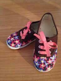 Zapatillas flores
