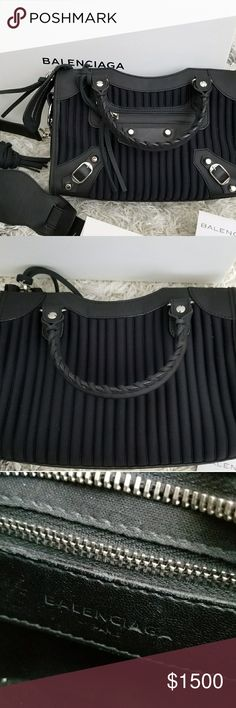Balenciaga City Mini Like new limited edition. No scratches. I had a professional cut the leather on zippers since I didn't like it so long, but I have the trims. Balenciaga Bags Crossbody Bags