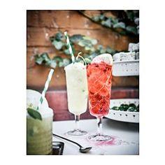IKEA - FLIMRA, Champagneglas, Door de hoge, smalle vorm blijven de bubbels - en daardoor de smaaksensatie - van champagne of mousserende wijn langer behouden.