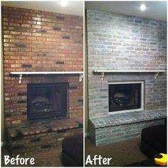 27 best white wash brick fireplace images diy ideas for home fire rh pinterest com