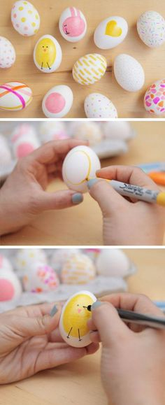 Sharpie Easter Eggs | Easy Easter Crafts for Toddlers to Make