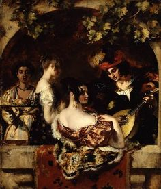 """1835     """"The Lute Player"""" (c. 1835) by William Etty (1787-1849)."""