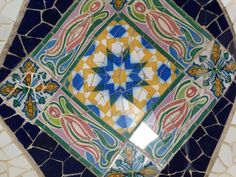 Tiles within Parc Guell