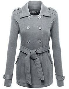 New Trending Outerwear: FPT Womens Double Breasted Peacoat With Waist Tie DARK HEATHER GRAY MEDIUM. FPT Womens Double Breasted Peacoat With Waist Tie DARK HEATHER GRAY MEDIUM   Special Offer: $22.99      133 Reviews MEASUREMENTS FPAWOCO03: S – Shoulder: 15.4in | Chest Width: 19.3in | Length: 27.6in | Sleeve Length: 24.8in M – Shoulder: 15.8in | Chest Width: 19.7in | Length:...