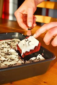 Eat, Run, Read: Cake of the Week: Red Velvet Brownies with Cream Cheese Frosting